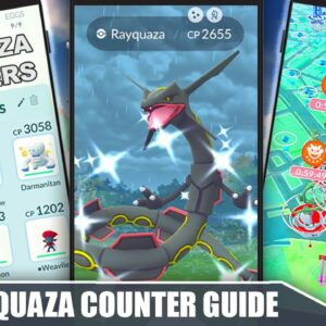 SHINY RAYQUAZA TIPS & COUNTER GUIDE - RAID WEEKEND! 100 IVs, MOVESET & WEAKNESSES | Pokémon GO