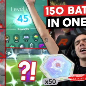 150 TEAM GO ROCKET BATTLES IN ONE DAY! GRINDING TO LEVEL 45 IN POKÉMON GO
