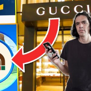 I WENT TO THE GUCCI STORE IN POKÉMON GO (LOL???)