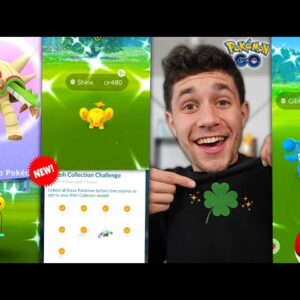 SHINY GIBLE, SHINY SHINX, & MORE CAUGHT IN HUGE NEW UPDATE! (Pokémon GO)