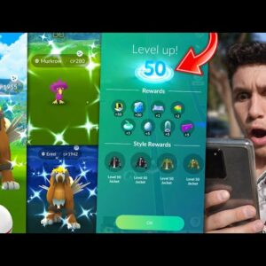 THE WORLD'S FIRST LEVEL 50 + FIRST TIME EVER CATCHING THIS! (Pokémon GO)
