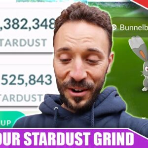 70,000 STARDUST per HOUR! THE 1 HOUR CLOUDY WEATHER GRIND - SUSTAINABILITY WEEK | Pokémon GO Vlog