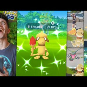 CATCHING SHINY SMEARGLE IN POKÉMON GO… IT ACTUALLY HAPPENED!