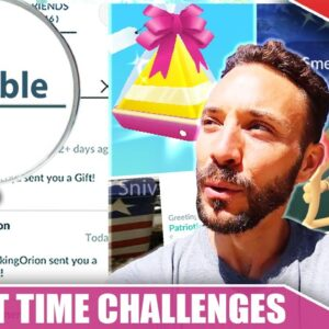 THE REAL TIME CHALLENGE OF *GIFTING* - IMPROVEMENTS NEEDED! & SHINY SMEARGLE | Pokémon GO Vlog