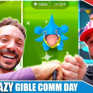 THE CRAZIEST EVENT FINISH EVER! INSANE GIBLE COMM DAY - FT. CHUMLEE | Pokémon GO Vlog