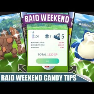 SPECIAL RAID WEEKEND TIPS! INCREASED XL CANDY & DOUBLE CATCH CANDY | Pokémon GO