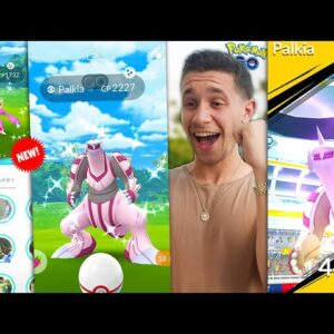 WHAT HAPPENED TO HERACROSS? + CATCHING THE FIRST SHINY PALKIA IN POKÉMON GO!