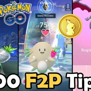 Top 100 F2P Tips & Tricks In Pokémon GO! (2021) | BEST Free To Play Guide | How To Save Money!