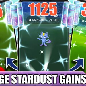 1,125+ STARDUST per CATCH for OVER A MONTH! THE *BIGGEST STARDUST GAIN* MONTH | Pokémon GO