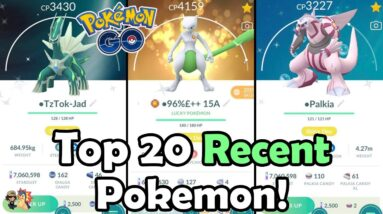 Top 20 RECENT Pokemon To Power Up From 2021 In Pokémon GO!   Which Pokemon Are Worth Powering Up?