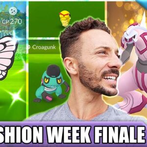 SO HYPED ON THIS SHINY! FASHION WEEK 2021 FINALE GRIND | Pokémon GO Vlog