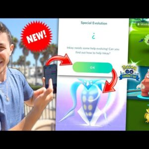 THE COOLEST NEW FEATURE IN POKÉMON GO - How To Evolve Inkay!