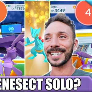 THE *GENESECT SOLO* - HOW TO SOLO GENESECT - 1 MAN RAID BOSS BATTLE | POKÉMON GO Vlog
